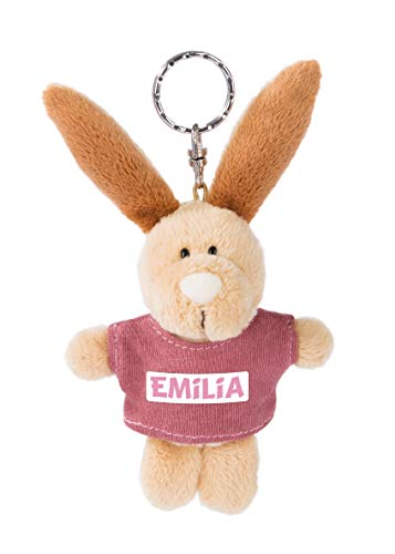 NICI 44614 Schlüsselanhänger Hase mit T-Shirt Emilia 10cm, beige