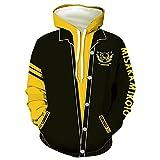 Misaka Mikoto Cosplay Hoodie Railgun 3D Printed Hooded Pullover Sweatshirt Jacket Outwear Costume,M Black