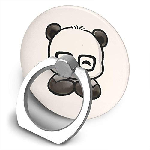 ARRISLIFE Geek Chic Panda Soporte para teléfono,Round-Shaped Soporte para Anillo de teléfono Celular,360 Degrees Rotating Soporte de Metal