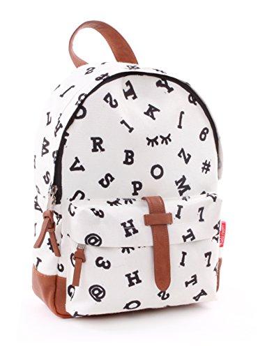 Backpack Kidzroom Black & White Numbers Mochila infantil