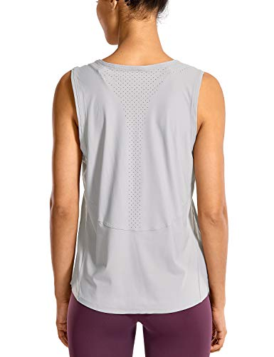 CRZ YOGA Workout Tanks Top for Women Relaxed Fit Sleeveless Tops Yoga Shirts Gull Grey_r757 M