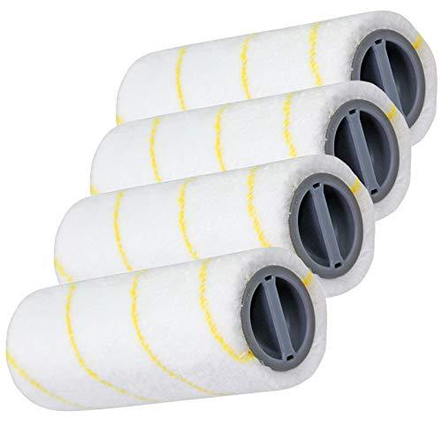 SPARES2GO Roller Set for Karcher FC 3 FC 5 Cordless Wet & Dry Hard Floor...