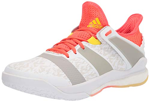adidas Men's Stabil X White/Solar Red/Shock Yellow 11