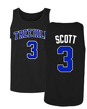 KINGS SPORTS Ravens Basketball Movie #3 Lucas Scott One Tree Hill Jersey Style Men s Tank Top  Black,XL