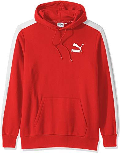PUMA Iconic T7 Sudadera con capucha para hombre - Rojo - Large