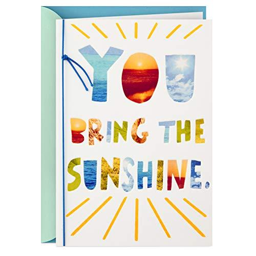 Hallmark Thank You Card, You Bring the Sunshine (Nurses Day Card, Teacher Appreciation, Healthcare Worker Gift)