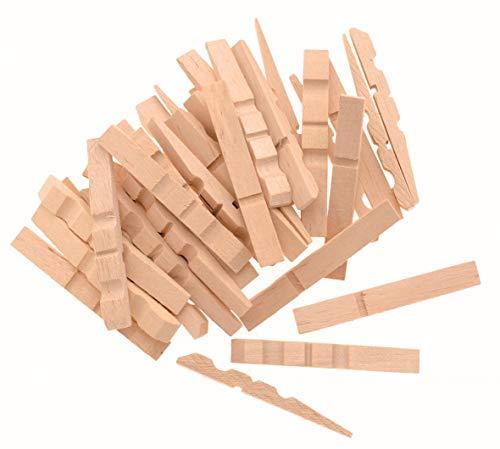 GLOREX Lot de 100 Pinces à Linge en Bois Naturel 72 mm 11,5 x 4 x 25 cm