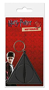 Harry Potter 1art1 Keychain Keyring for Fans - Deathly Hallows, Logo (2 x 2 inches)