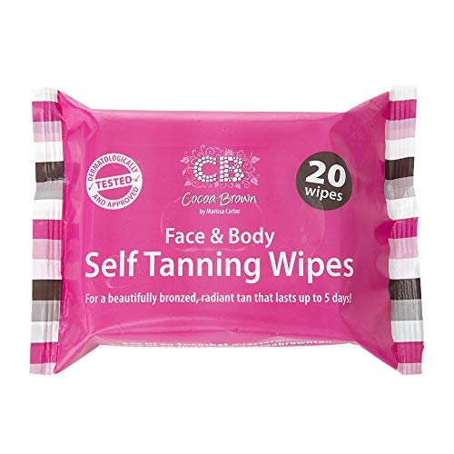 Cocoa Brown Face & Body Tanning wipes