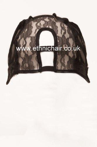 Perruque Jagazi. Peignes fixée Noir Grande Middle Upart Tissage Cap robuste avec bretelles. 2,5 x 8,9 cm Upart