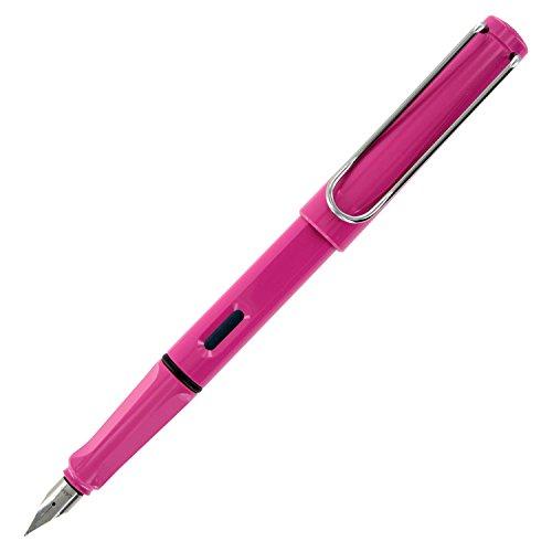 LAMY safari Füllhalter 013 – Moderner Füller in der Farbe Pink mit ergonomischem Griff und zeitlosem Design – Federstärke LH