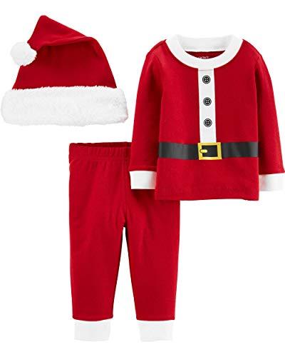 Carter's Unisex Baby 3-Piece Christmas Outfit, Santa, Newborn