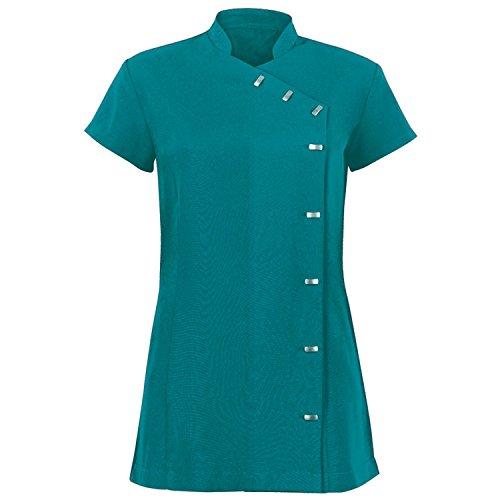 Alexandra - Túnica uniforme para salón de belleza / spa de cuidado fácil para mujer (44/Amatista)