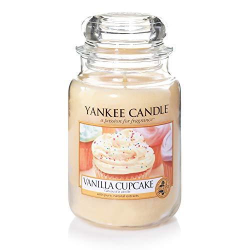 Yankee Candle Candela profumata in giara grande | Cupcake alla vaniglia | Durata Fino a 150 Ore