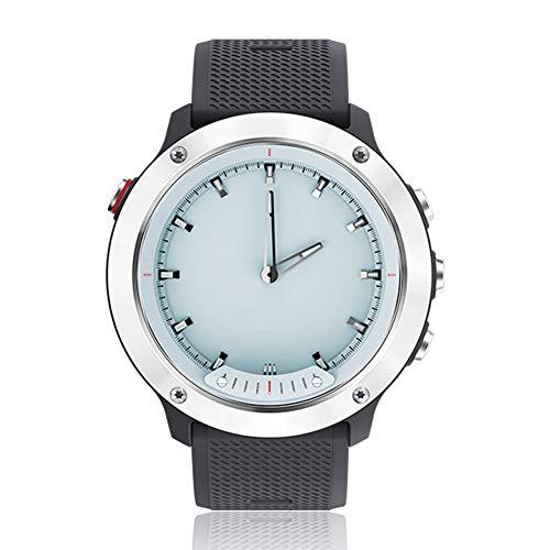 WENQAN wasserdichte Business Gentleman-Sportuhr, Smart-Fashion-Uhr, iOS, Outdoor-Sportarten, Bluetooth-Fitness-Tracker, analoger Herzfrequenz-Chronograph-Silverblack