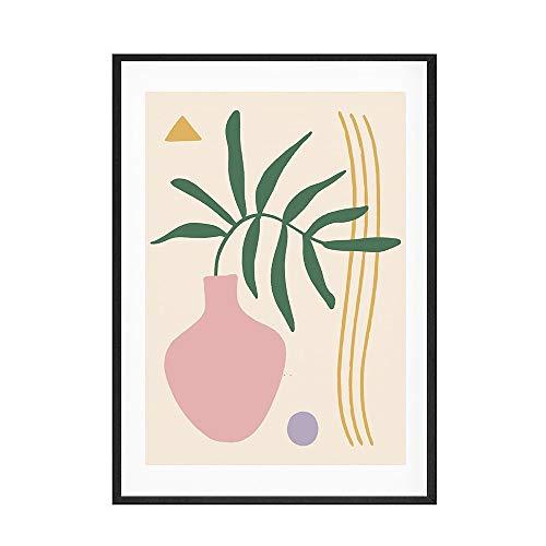 Matisse carteles e impresiones retro arte línea de flores pintura Morandi color arte de la pared familia sin marco lienzo pintura A5 40x60 cm