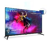 Kiano Slim TV 50' Pouces Android TV [127 cm Frameless TV] (4K Ultra HD, HDR, Miracast/Eshare, Smart-TV, Netfilx, Ipla, Youtube, Facebook) Triple Tuner, CI, CI+, PVR, WiFi, Alexa, Classe énergétique A