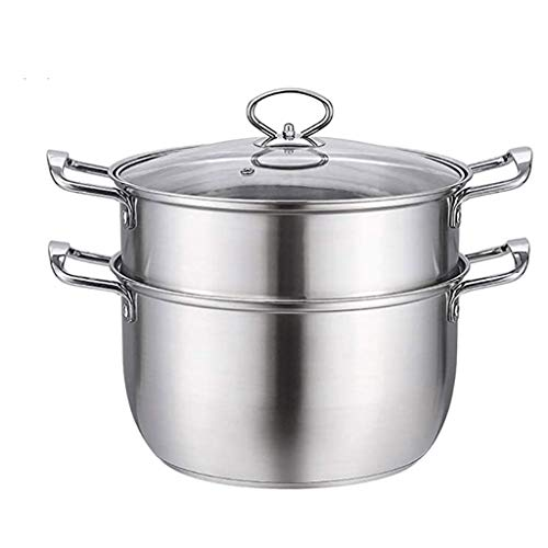 Purchase TJLbb Stainless Steel Steamer,Soup Pot 2-layer Large Capacity Household With Steamer Thic...