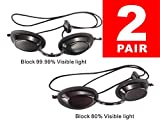Skincareguys Eyepatch Laser Light Protection Safety Goggles, IPL Beauty Clinic Patient, Black