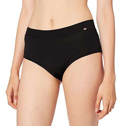 Skiny Damen Yoga & Relax Performance Midi Panty Sportunterhose, Schwarz (Black 7665), 36
