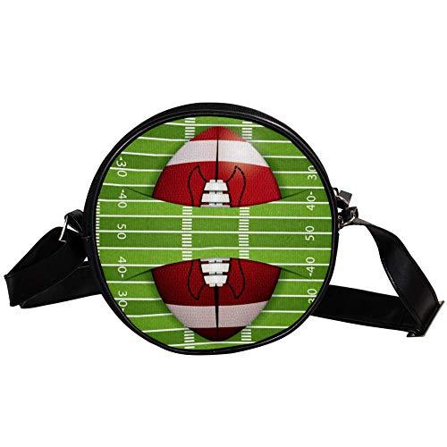 Bennigiry Handtasche/Clutch, American Football Stadion, rund, für Teenager, Mädchen und Frauen
