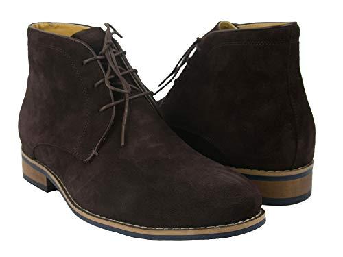 Zerimar herenlaarzen met boost toenemende hoogte + 7 cm | Heren Jurk Laarzen | Heren enkellaarsjes Leren herenlaarzen | Winter man schoenen