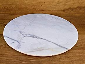 Marble Lazy Susan Turntable Rotating Tray Dining Table Centerpiece Serving Plate Large - 22 Inch