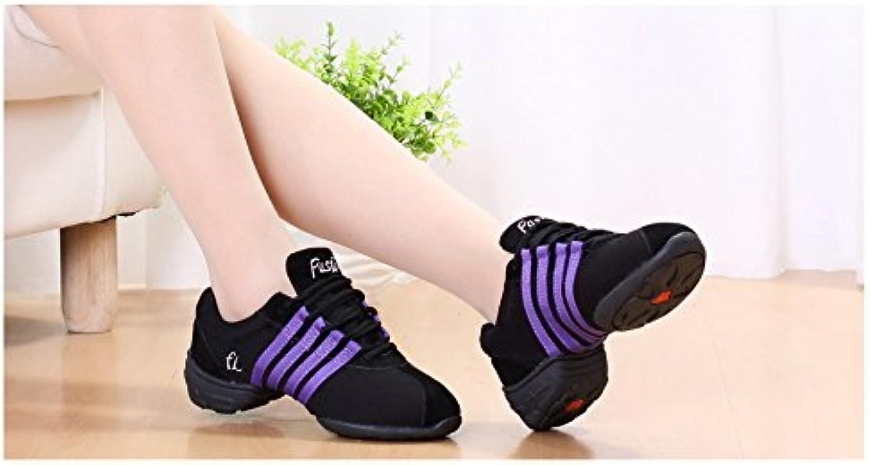 Ruiyue Professional Dance shoes, Ballroom Dance shoes Lightweight Jazz shoes for Women