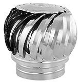 PrimeMatik kh041-vces Chapeau Extracteur de fumée galvanisé Rotatif pour Tube de 150mm de diamètre (kh041)