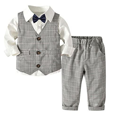 Upxiang - Conjunto de 3 piezas de ropa de bebé de manga...