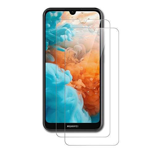 AICEK [2 Stück] Huawei Y5 2019 Schutzfolie, Tempered Glass Bildschirmschutzfolie für Y5 2019 Schutzglas Screen Protector Gehärtetem Glas Bildschirmschutz Huawei Y5 2019 Panzerglas (5,71 Zoll)