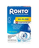Rohto Ice All-in-One Multi-Symptom Relief Cooling Eye Drops, 0.4 fl oz Bottle (Pack of 3)