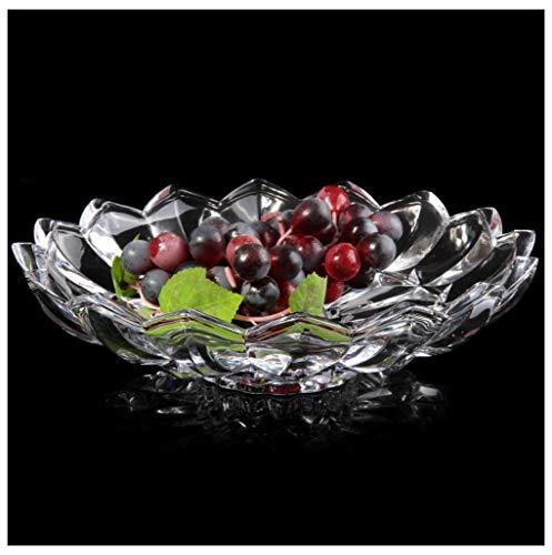Panier à fruits Plateau De Fruits En Verre En Cristal Créative Européenne Transparent Rond Plateau De Fruits -0