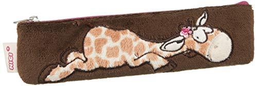 NICI 38644 - Mäppchen Giraffe flach, 19.5 x 5cm