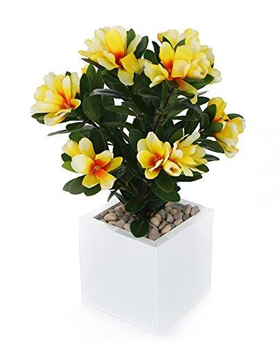 Closer To Nature FT019YW - Rhododendron ferrugineux artificiel jaune de 57 cm