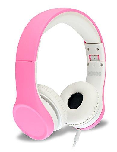 Children Kids Children s Volume Limited Headphones for Kids Foldable (Pink)