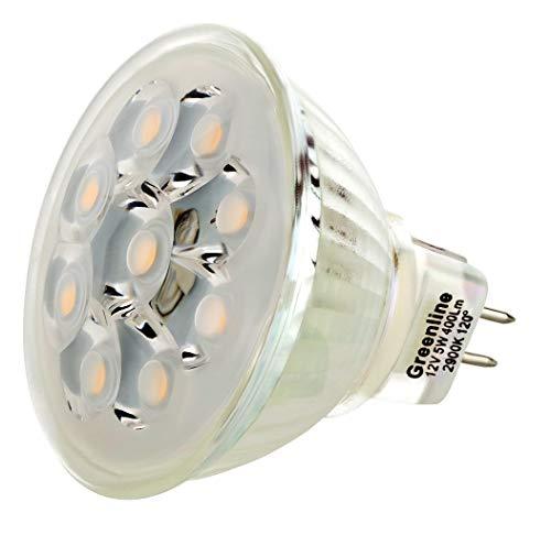 I-Lumen LED 5 W Spot Verre Corps Technique de COB Blanc Chaud MR16/GU5.3 12 V AC/DC