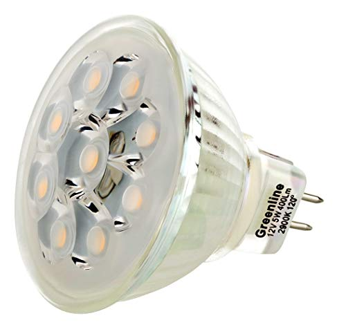 I-Lumen LED 5 W Spot Verre Corps Technique de COB Blanc Chaud MR16/GU5.3 12 V AC/DC
