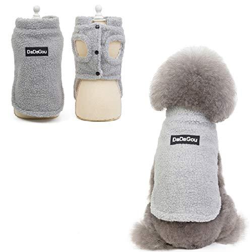 RC GearPro Welpenkostüm Lamm Kaschmir Mantel Weste Jacke Hund Haustier Kleidung Winter Warme Hundemantel (M, Grau)