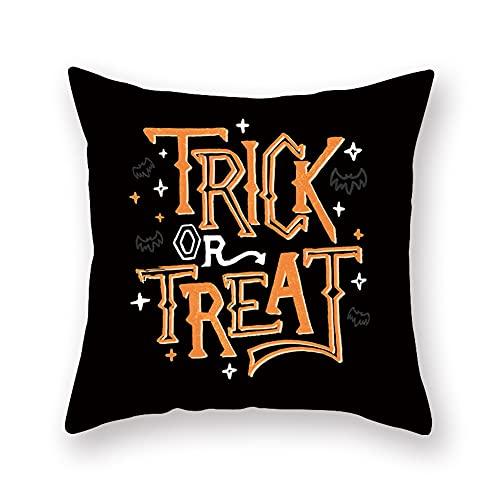 Cxcdxd Decoraciones de Halloween Almohada Regalos Sofá de 18 × 18 Pulgadas Almohada de Lino Decorativa Decoración de Halloween (Los Rellenos están incluidos)