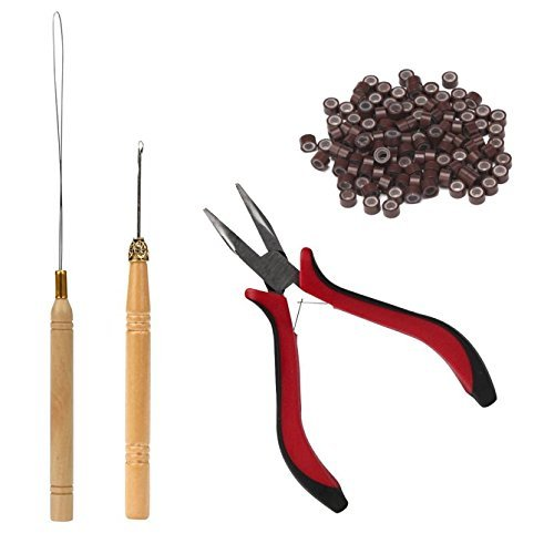 Hair Extensions Tool Ranking TOP11 Kit Pliers- NEW Pro Rings 200 Link Bea Silicone
