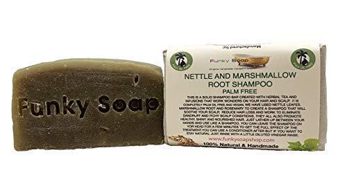 Funky Soap Palme Gratuit Nettle & Marshmallow Root Shampoo Barre, Env. 120g