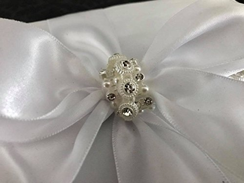 Wedding Guest Book White Satin with Rhinestones All Occasion Sweet 16 Birthday Mis Quince Años