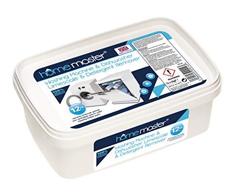 Limpiador de cal y detergente para todas las lavadoras y lavavajillas de Home Master - 12 aplicaciones