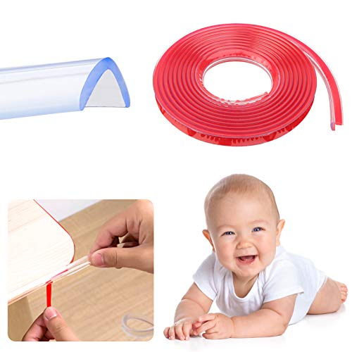 DONQL 1Rollen Kantenschutz für Kinder Schutz Eckenschutz Set Kindersicherung Transparent Kantenschutz KindersicherungWeiche Kantenschutz für Möbel Schrank Tisch Kindersicherung (3M)