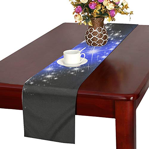 Price comparison product image WBSNDB Star Christmas Bright Blue Table Runner,  Kitchen Dining Table Runner 16 X 72 Inch for Dinner Parties,  Events,  Decor