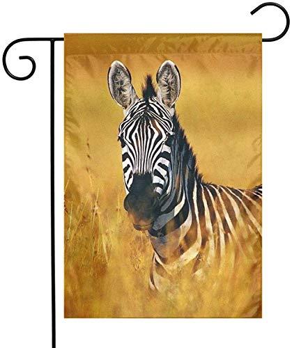 Zebras Garden Flags House Decoraciones navideñas para Interiores y Exteriores, Patio de poliéster Impermeable Decorativo para Juegos Fiesta Familiar Banner