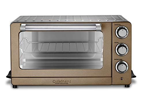 Cuisinart TOB-60N1CS Convection Toaster Oven Broiler, 19.1'(L) x 15.5'(W) x 9.8'(H), Copper Stainless Steel