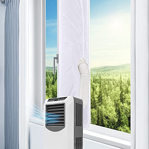 ASANMU Fenster Klimaanlage Abdichtung, Fensterabdichtung für Mobile Klimageräte, Abluft-Wäschetrockner, Ablufttrockner, Luftentfeuchter, AirLock zum Anbringen an Fenster, Dachfenster Flügelfenster