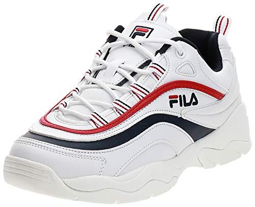 Fila Herren Ray Low 1010561-150 Sneaker, White Navy Red 1010561 150, 42 EU